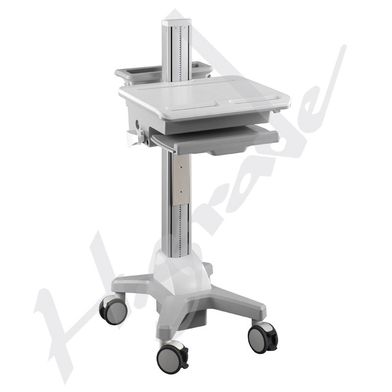 Ergonomic Mobile Trolley Cart For Laptop Non Powered Cart