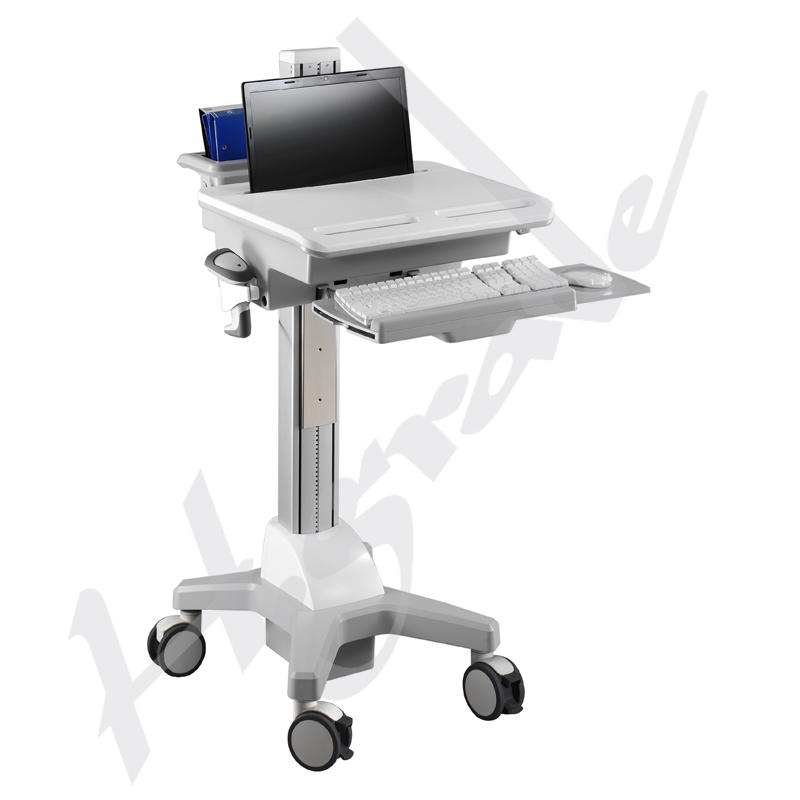 hospital healthcare mobile trolley cart for laptop computer mobile workstation cart cnn02. Black Bedroom Furniture Sets. Home Design Ideas