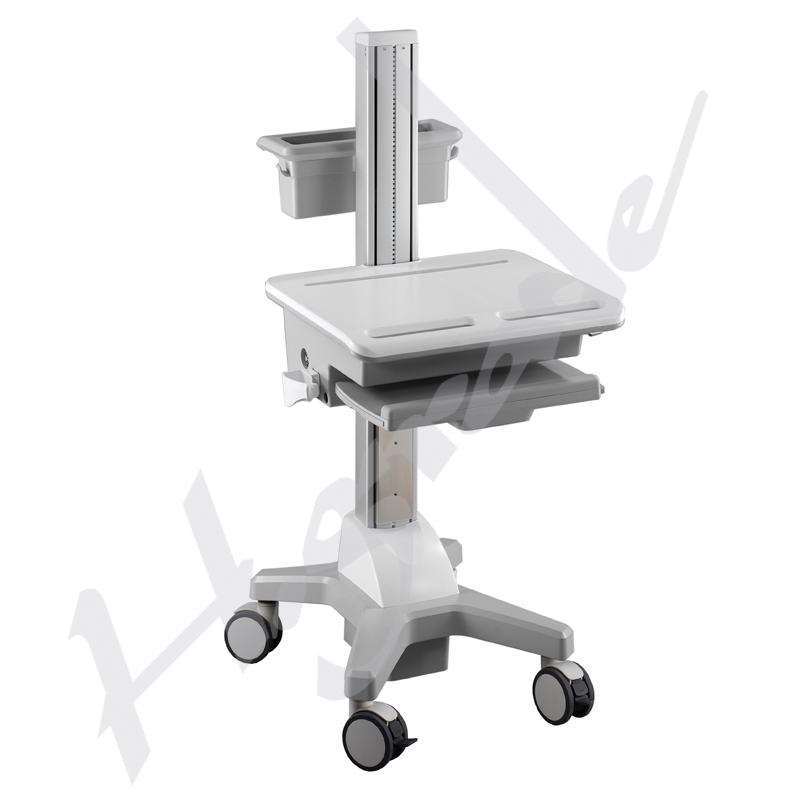 Hospital HealthCare Mobile Trolley Cart for laptop / computer mobile workstation cart