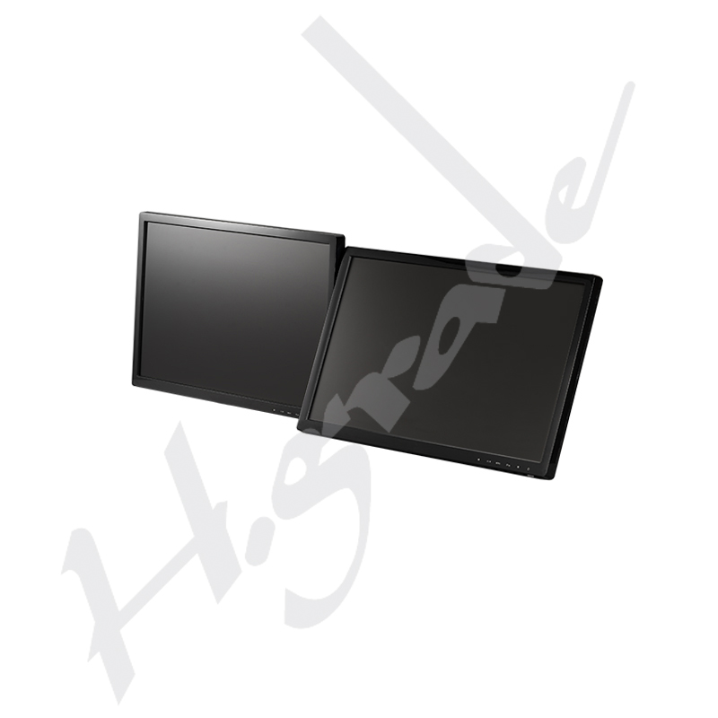 Full Motion Multi 24 inch Dual monitor LCD TV Wall Mount with Two Vesa Plates