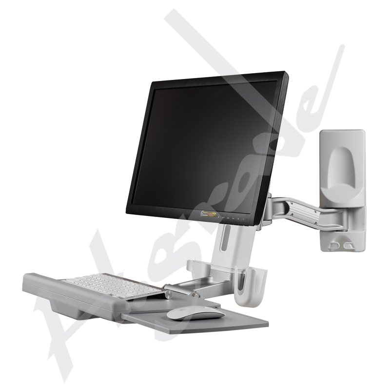 Sit-Stand Wall Mount Computer Workstation System