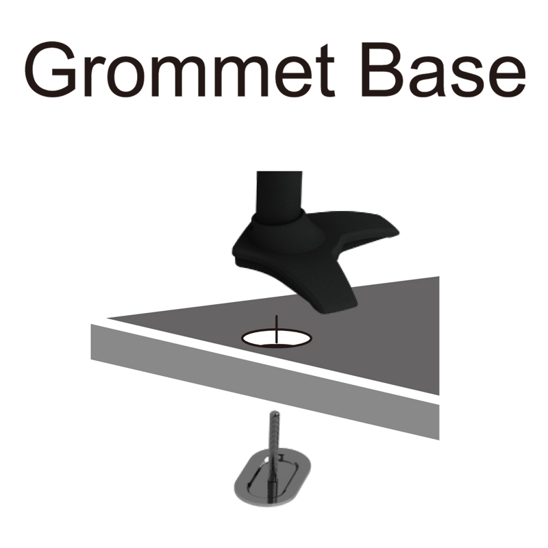 Single Monitor stand - Grommet Mount Base